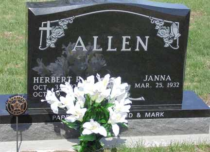 ALLEN, JANNA - Minnehaha County, South Dakota | JANNA ALLEN - South Dakota Gravestone Photos