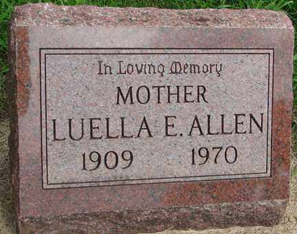 ALLEN, LUELLA E. - Minnehaha County, South Dakota | LUELLA E. ALLEN - South Dakota Gravestone Photos