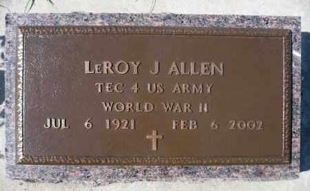 ALLEN, LEROY J. (WWII) - Minnehaha County, South Dakota   LEROY J. (WWII) ALLEN - South Dakota Gravestone Photos