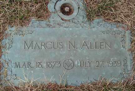 ALLEN, MARCUS N. - Minnehaha County, South Dakota | MARCUS N. ALLEN - South Dakota Gravestone Photos