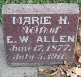ALLEN, MARIE H. - Minnehaha County, South Dakota | MARIE H. ALLEN - South Dakota Gravestone Photos