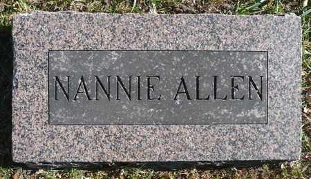 ALLEN, NANNIE - Minnehaha County, South Dakota | NANNIE ALLEN - South Dakota Gravestone Photos
