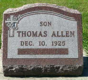 ALLEN, THOMAS - Minnehaha County, South Dakota | THOMAS ALLEN - South Dakota Gravestone Photos