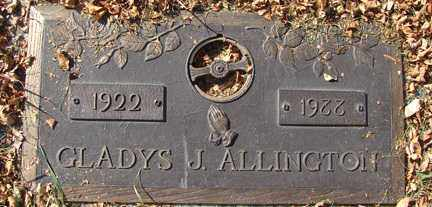 ALLINGTON, GLADYS J. - Minnehaha County, South Dakota | GLADYS J. ALLINGTON - South Dakota Gravestone Photos