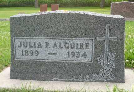 ALGUIRE, JULIA P. - Minnehaha County, South Dakota | JULIA P. ALGUIRE - South Dakota Gravestone Photos