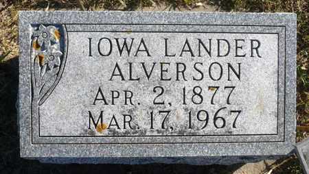 PAGE ALVERSON, IOWA DAKOTA - Minnehaha County, South Dakota | IOWA DAKOTA PAGE ALVERSON - South Dakota Gravestone Photos