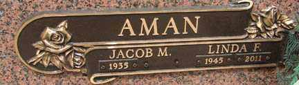 AMAN, JACOB M. - Minnehaha County, South Dakota | JACOB M. AMAN - South Dakota Gravestone Photos