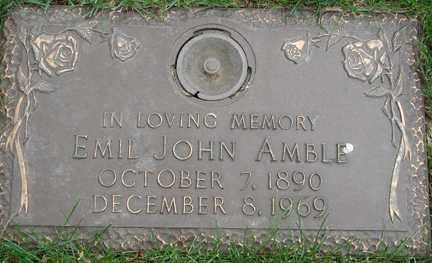 AMBLE, EMIL JOHN - Minnehaha County, South Dakota   EMIL JOHN AMBLE - South Dakota Gravestone Photos