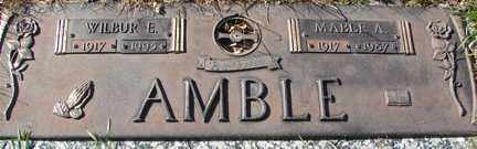 AMBLE, WILBUR E. - Minnehaha County, South Dakota | WILBUR E. AMBLE - South Dakota Gravestone Photos