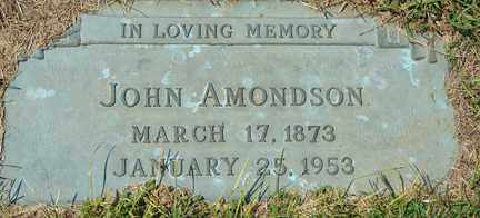 AMONDSON, JOHN - Minnehaha County, South Dakota   JOHN AMONDSON - South Dakota Gravestone Photos