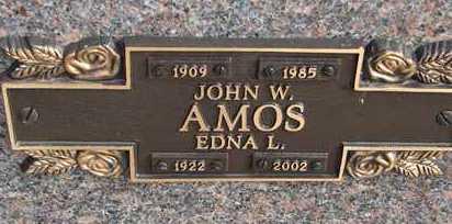 AMOS, JOHN W. - Minnehaha County, South Dakota | JOHN W. AMOS - South Dakota Gravestone Photos
