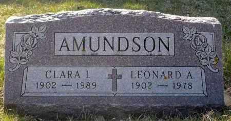 AMUNDSON, LEONARD A. - Minnehaha County, South Dakota | LEONARD A. AMUNDSON - South Dakota Gravestone Photos