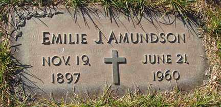AMUNDSON, EMILIE J. - Minnehaha County, South Dakota | EMILIE J. AMUNDSON - South Dakota Gravestone Photos