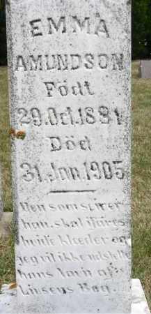 AMUNDSON, EMMA (CLOSE UP) - Minnehaha County, South Dakota | EMMA (CLOSE UP) AMUNDSON - South Dakota Gravestone Photos