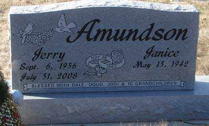 AMUNDSON, JANICE - Minnehaha County, South Dakota | JANICE AMUNDSON - South Dakota Gravestone Photos