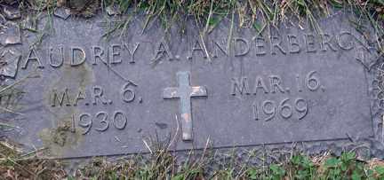 ANDERBERG, AUDREY A. - Minnehaha County, South Dakota   AUDREY A. ANDERBERG - South Dakota Gravestone Photos