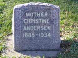 ANDERSEN, CHRISTINE - Minnehaha County, South Dakota | CHRISTINE ANDERSEN - South Dakota Gravestone Photos