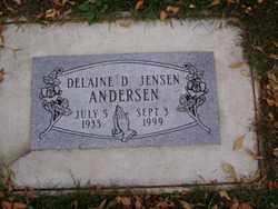 JENSEN ANDERSEN, DELAINE D. - Minnehaha County, South Dakota   DELAINE D. JENSEN ANDERSEN - South Dakota Gravestone Photos