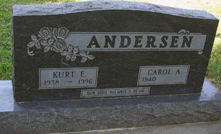 ANDERSEN, KURT E. - Minnehaha County, South Dakota | KURT E. ANDERSEN - South Dakota Gravestone Photos