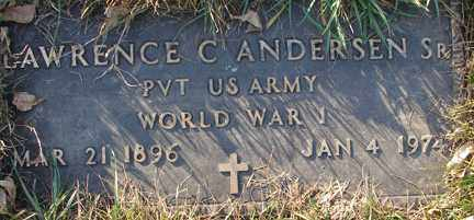 ANDERSEN, LAWRENCE C. SR. - Minnehaha County, South Dakota | LAWRENCE C. SR. ANDERSEN - South Dakota Gravestone Photos