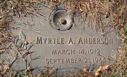 ANDERSON, MYRTLE A. - Minnehaha County, South Dakota | MYRTLE A. ANDERSON - South Dakota Gravestone Photos