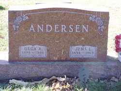 CHRISTENSEN ANDERSEN, OLGA A. - Minnehaha County, South Dakota | OLGA A. CHRISTENSEN ANDERSEN - South Dakota Gravestone Photos