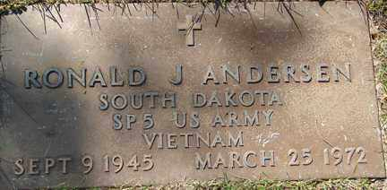 ANDERSEN, RONALD J. - Minnehaha County, South Dakota | RONALD J. ANDERSEN - South Dakota Gravestone Photos