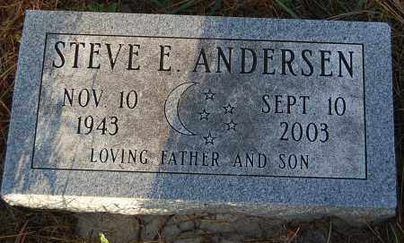 ANDERSEN, STEVE E. - Minnehaha County, South Dakota | STEVE E. ANDERSEN - South Dakota Gravestone Photos