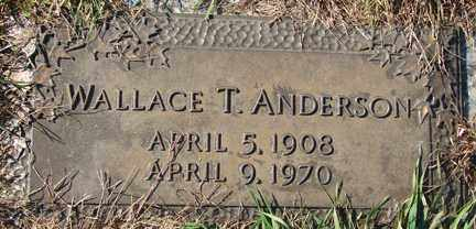 ANDERSON, WALLACE T. - Minnehaha County, South Dakota | WALLACE T. ANDERSON - South Dakota Gravestone Photos