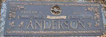 ANDERSON, ADOLPH G. - Minnehaha County, South Dakota | ADOLPH G. ANDERSON - South Dakota Gravestone Photos