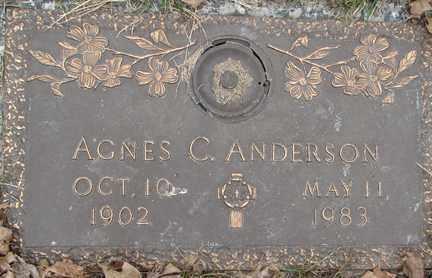 ANDERSON, AGNES C. - Minnehaha County, South Dakota   AGNES C. ANDERSON - South Dakota Gravestone Photos