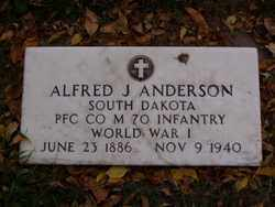 ANDERSON, ALFRED J. - Minnehaha County, South Dakota | ALFRED J. ANDERSON - South Dakota Gravestone Photos