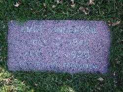 ANDERSON, AMOS - Minnehaha County, South Dakota | AMOS ANDERSON - South Dakota Gravestone Photos