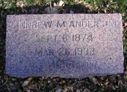 ANDERSON, ANDREW M. - Minnehaha County, South Dakota | ANDREW M. ANDERSON - South Dakota Gravestone Photos