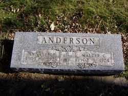 ANDERSON, WALTER - Minnehaha County, South Dakota | WALTER ANDERSON - South Dakota Gravestone Photos