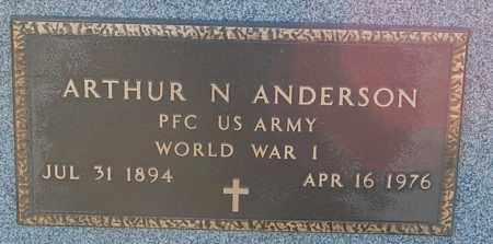 ANDERSON, ARTHUR N. (WW I) - Minnehaha County, South Dakota | ARTHUR N. (WW I) ANDERSON - South Dakota Gravestone Photos
