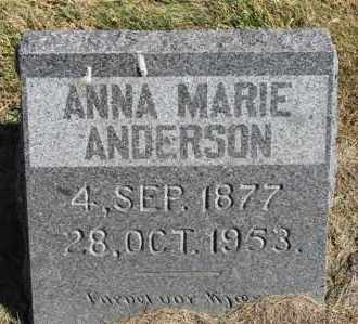 ANDERSON, ANNA MARIE - Minnehaha County, South Dakota | ANNA MARIE ANDERSON - South Dakota Gravestone Photos