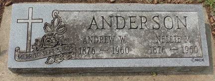 ANDERSON, NELLIE M. - Minnehaha County, South Dakota | NELLIE M. ANDERSON - South Dakota Gravestone Photos