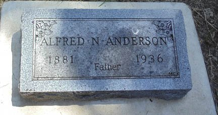 ANDERSON, ALFRED N. - Minnehaha County, South Dakota | ALFRED N. ANDERSON - South Dakota Gravestone Photos