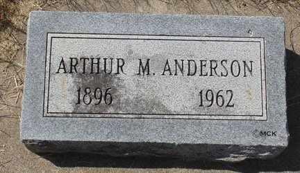 ANDERSON, ARTHUR M. - Minnehaha County, South Dakota | ARTHUR M. ANDERSON - South Dakota Gravestone Photos