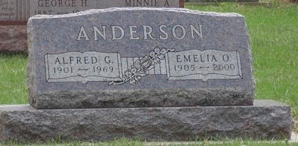 ANDERSON, ALFRED G. - Minnehaha County, South Dakota | ALFRED G. ANDERSON - South Dakota Gravestone Photos