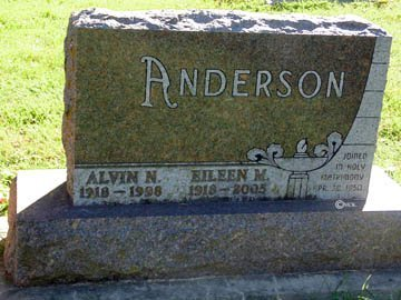 ANDERSON, EILEEN M. - Minnehaha County, South Dakota | EILEEN M. ANDERSON - South Dakota Gravestone Photos