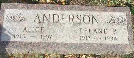 ANDERSON, LELAND P. - Minnehaha County, South Dakota | LELAND P. ANDERSON - South Dakota Gravestone Photos