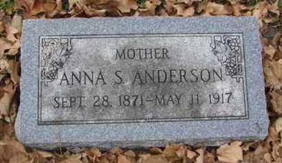 ANDERSON, ANNA S. - Minnehaha County, South Dakota   ANNA S. ANDERSON - South Dakota Gravestone Photos