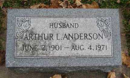 ANDERSON, ARTHUR L. - Minnehaha County, South Dakota | ARTHUR L. ANDERSON - South Dakota Gravestone Photos