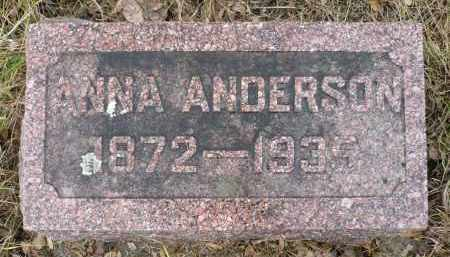 ANDERSON, ANNA - Minnehaha County, South Dakota | ANNA ANDERSON - South Dakota Gravestone Photos