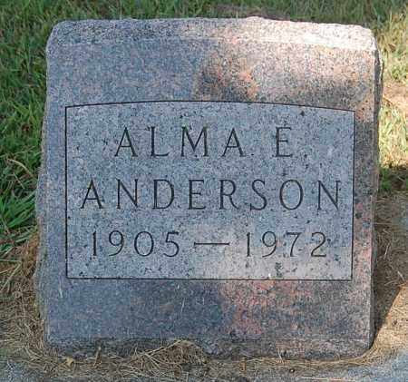 ANDERSON, ALMA E. - Minnehaha County, South Dakota | ALMA E. ANDERSON - South Dakota Gravestone Photos
