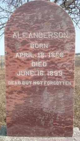 ANDERSON, ALF - Minnehaha County, South Dakota | ALF ANDERSON - South Dakota Gravestone Photos