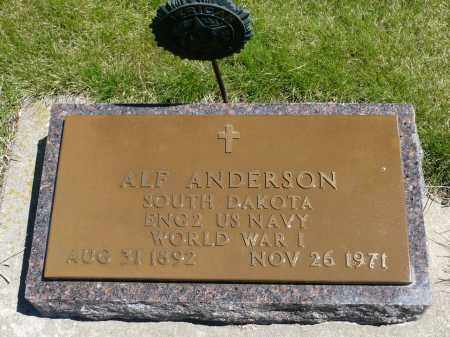 ANDERSON, ALFRED (WWI) - Minnehaha County, South Dakota | ALFRED (WWI) ANDERSON - South Dakota Gravestone Photos