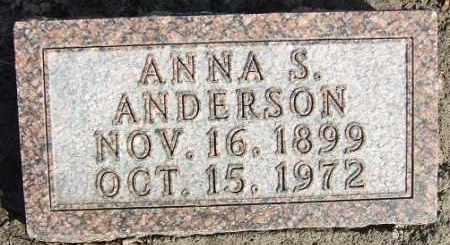 ANDERSON, ANNA S. - Minnehaha County, South Dakota | ANNA S. ANDERSON - South Dakota Gravestone Photos